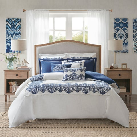 Madison Park Signature Indigo Sky White/Blue Comforter Set