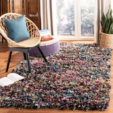 Safavieh Handmade Rio Shag Abstract Polyester Rug