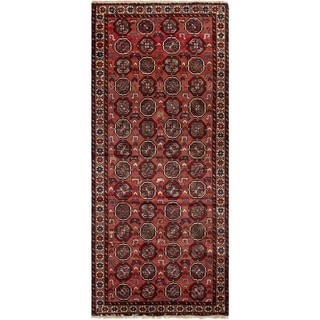 eCarpetGallery  Hand-knotted Finest Baluch Red Wool Rug - 3'8 x 8'10