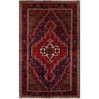 eCarpetGallery  Hand-knotted Koliai Red Wool Rug - 4'6 x 7'6