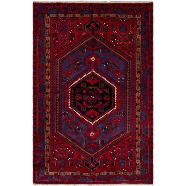 eCarpetGallery Hand-knotted Zanjan Red Wool Rug - 4'7 x 6'8
