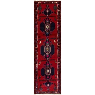 eCarpetGallery  Hand-knotted Saveh Red Wool Rug - 2'6 x 9'3