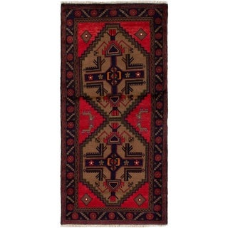 eCarpetGallery  Hand-knotted Koliai Red Wool Rug - 2'11 x 6'4