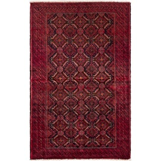 eCarpetGallery  Hand-knotted Finest Baluch Red Wool Rug - 3'1 x 5'0