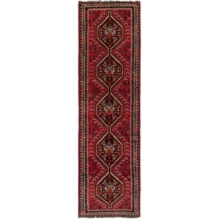 eCarpetGallery  Hand-knotted Shiraz Red Wool Rug - 2'6 x 9'5