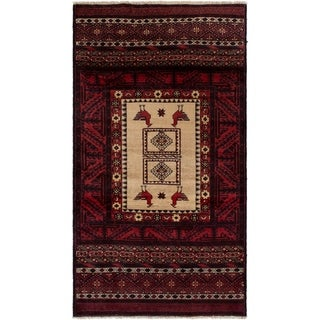 eCarpetGallery  Hand-knotted Finest Baluch Red Wool Rug - 3'3 x 6'1