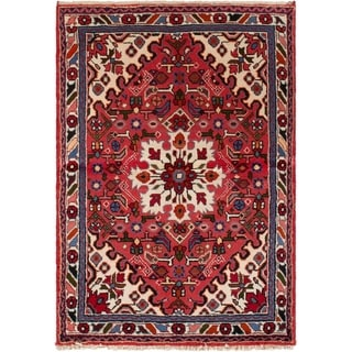 eCarpetGallery  Hand-knotted Hamadan Red Wool Rug - 3'5 x 5'0
