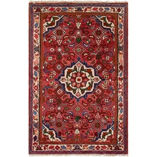 eCarpetGallery  Hand-knotted Koliai Red Wool Rug - 3'7 x 5'5