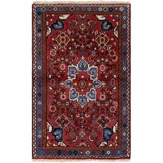 eCarpetGallery  Hand-knotted Hamadan Dark Red Wool Rug - 3'3 x 5'3