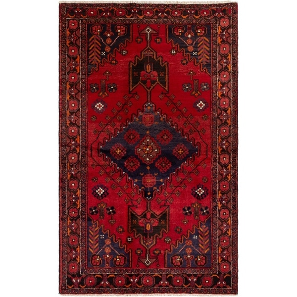 eCarpetGallery Hand-knotted Finest Baluch Red Wool Rug - 4'0 x 6'7