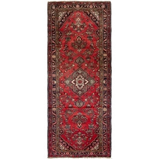 eCarpetGallery  Hand-knotted Hamadan Red Wool Rug - 3'9 x 9'7