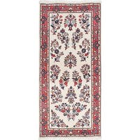 eCarpetGallery  Hand-knotted Sarough Cream Wool Rug - 2'9 x 5'11