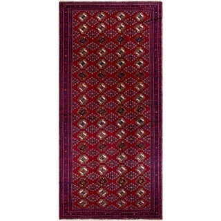 eCarpetGallery  Hand-knotted Finest Baluch Red Wool Rug - 3'7 x 7'10