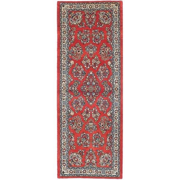 eCarpetGallery Hand-knotted Sarough Dark Copper Wool Rug - 2'9 x 7'10