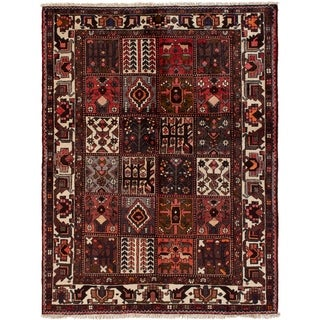 eCarpetGallery  Hand-knotted Bakhtiar Red Wool Rug - 5'4 x 7'1