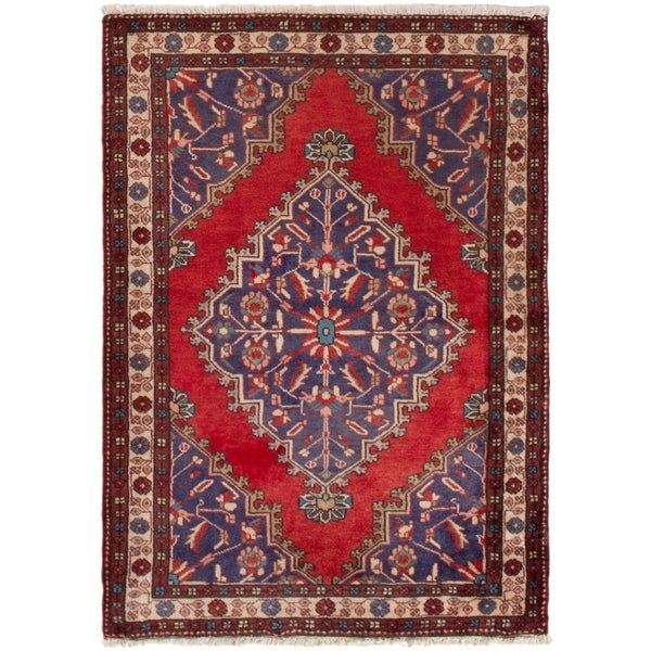 eCarpetGallery Hand-knotted Tafresh Red Wool Rug - 3'0 x 4'2