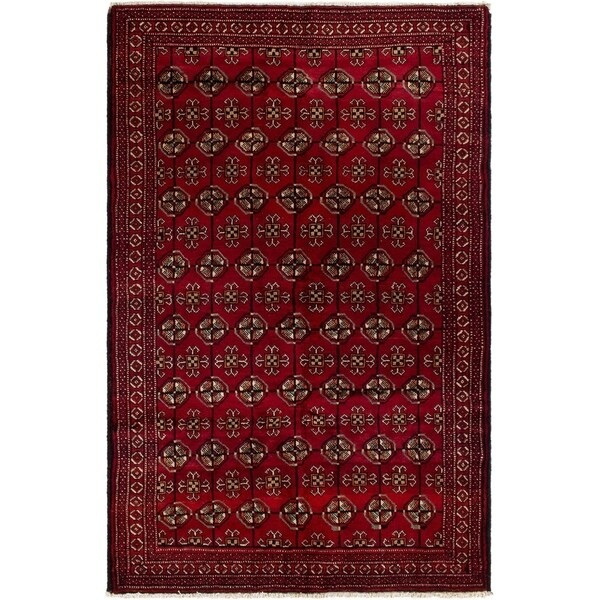 eCarpetGallery Hand-knotted Finest Baluch Red Wool Rug - 4'6 x 6'11