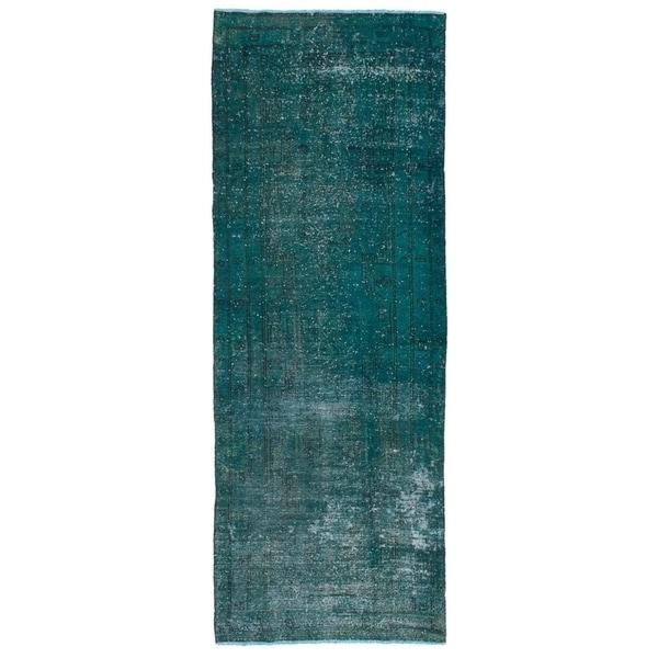 eCarpetGallery Hand-knotted Vogue Dark Green Wool Rug - 3'7 x 10'8
