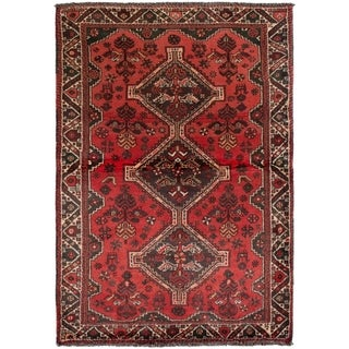 eCarpetGallery  Hand-knotted Shiraz Red Wool Rug - 3'10 x 5'6