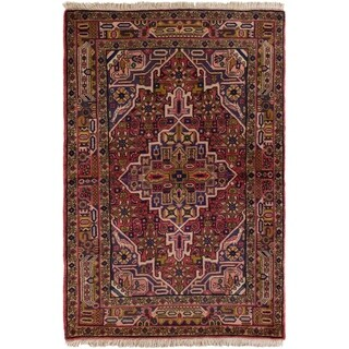 eCarpetGallery  Hand-knotted Koliai Red Wool Rug - 3'5 x 5'2