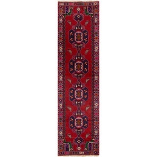ECARPETGALLERY Hand-knotted Saveh Red Wool Rug - 2'5 x 9'3