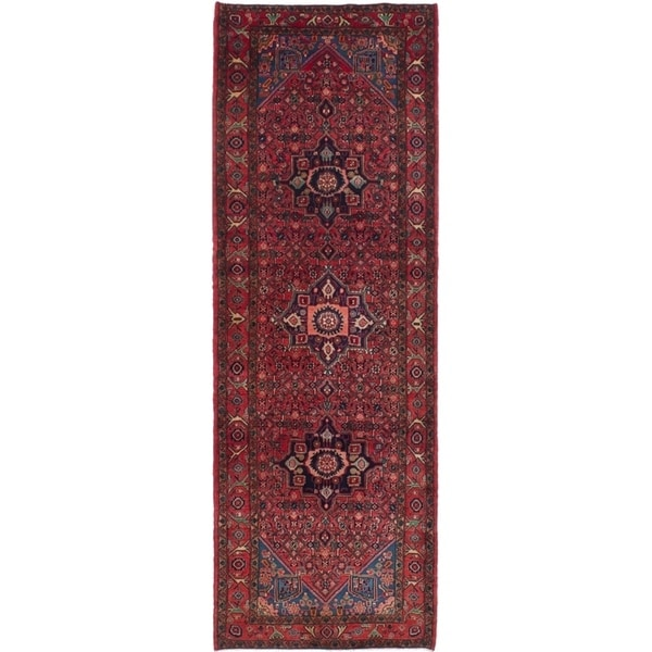 eCarpetGallery Hand-knotted Koliai Red Wool Rug - 3'9 x 11'0
