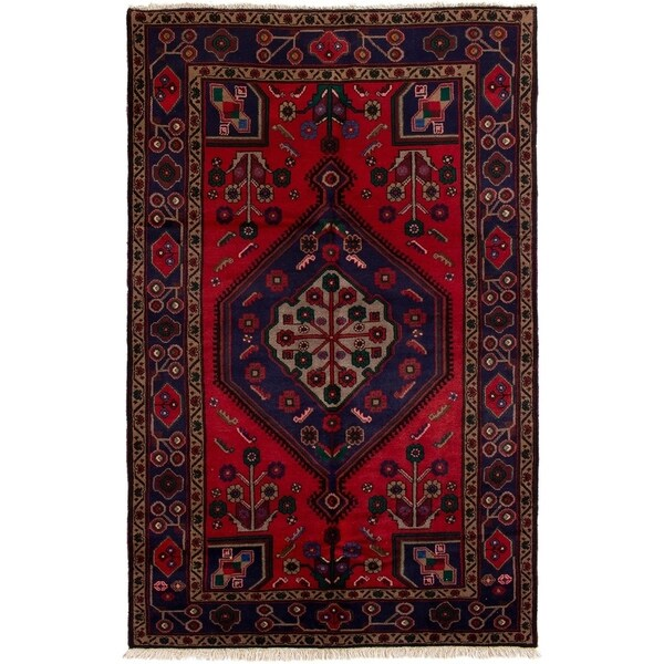ECARPETGALLERY Hand-knotted Koliai Red Wool Rug - 4'11 x 7'9