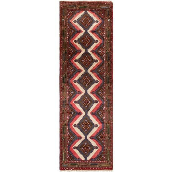 ECARPETGALLERY Hand-knotted Malayer Cream, Red Wool Rug - 4'5 x 6'2