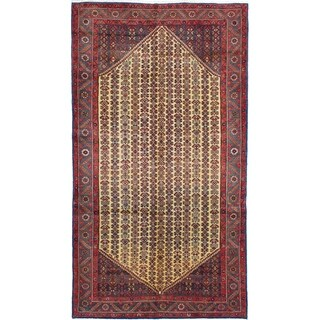 eCarpetGallery  Hand-knotted Koliai Cream Wool Rug - 5'1 x 9'3