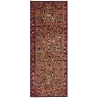 eCarpetGallery  Hand-knotted Hosseinabad Light Brown Wool Rug - 3'5 x 9'8
