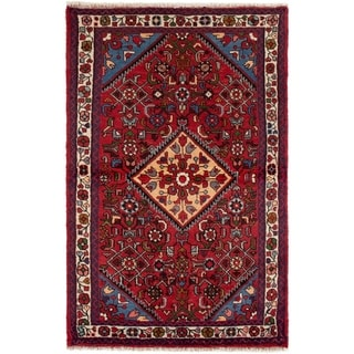 eCarpetGallery  Hand-knotted Hamadan Red Wool Rug - 3'3 x 5'1
