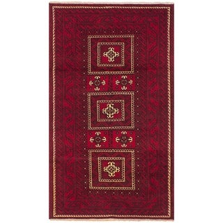 eCarpetGallery  Hand-knotted Finest Baluch Red Wool Rug - 3'7 x 6'7