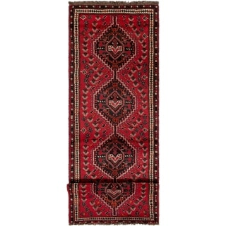 ECARPETGALLERY Hand-knotted Shiraz Red Wool Rug - 2'8 x 9'9