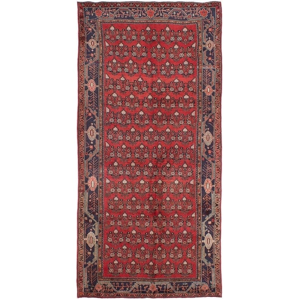 eCarpetGallery Hand-knotted Koliai Red Wool Rug - 4'9 x 10'0