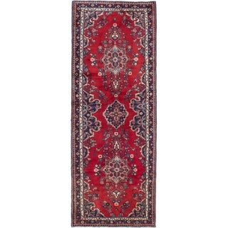 eCarpetGallery  Hand-knotted Hamadan Red Wool Rug - 3'6 x 10'0