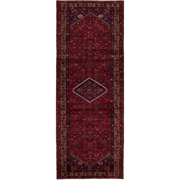 eCarpetGallery Hand-knotted Mahal Red Wool Rug - 3'8 x 10'0