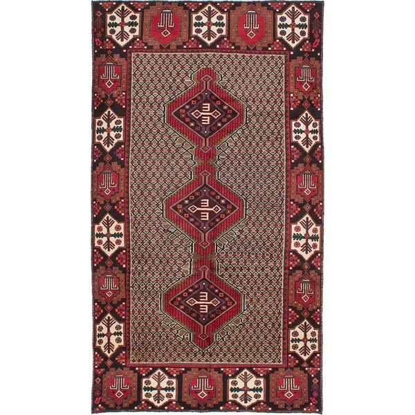 eCarpetGallery Hand-knotted Koliai Brown, Red Wool Rug - 5'2 x 9'4