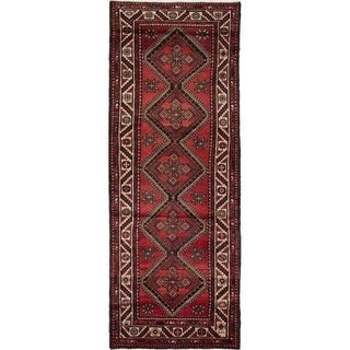 eCarpetGallery  Hand-knotted Hamadan Red Wool Rug - 3'7 x 10'1