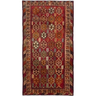 eCarpetGallery  Hand-knotted Meshkin Red Wool Rug - 4'9 x 9'3