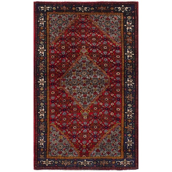 eCarpetGallery Hand-knotted Zanjan Red Wool Rug - 4'1 x 6'11