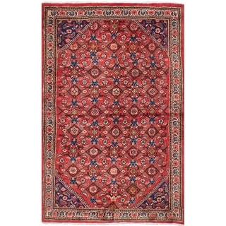 eCarpetGallery  Hand-knotted Mahal Red Wool Rug - 3'9 x 5'11