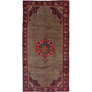 eCarpetGallery  Hand-knotted Koliai Red, Tan Wool Rug - 4'6 x 9'1