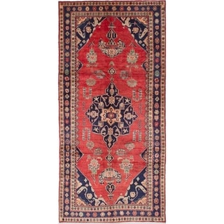 eCarpetGallery  Hand-knotted Koliai Red Wool Rug - 4'11 x 10'5