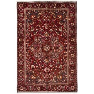 eCarpetGallery  Hand-knotted Bakhtiar Dark Red Wool Rug - 6'8 x 10'5