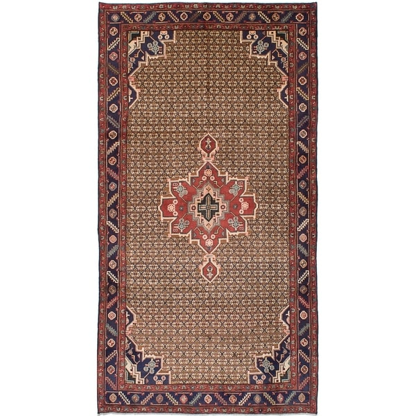 eCarpetGallery Hand-knotted Koliai Brown Wool Rug - 5'1 x 9'10