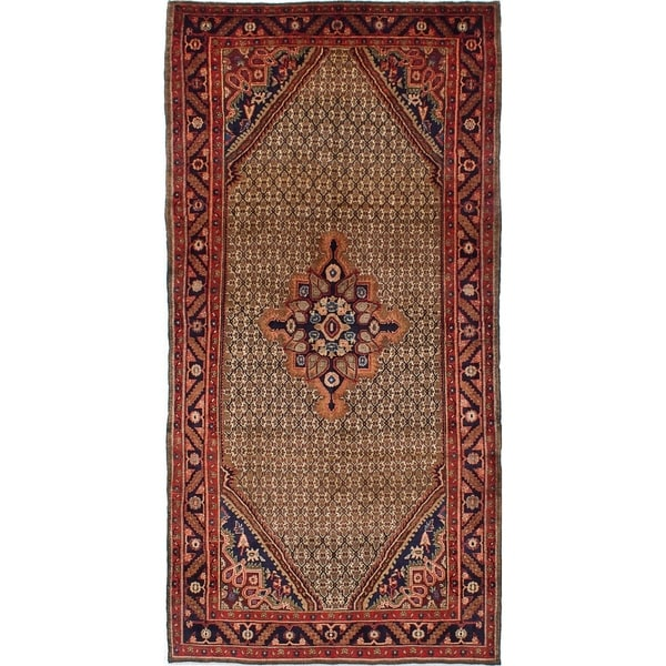 eCarpetGallery Hand-knotted Koliai Brown Wool Rug - 5'0 x 9'10
