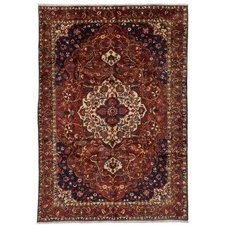 eCarpetGallery  Hand-knotted Bakhtiar Dark Red Wool Rug - 6'10 x 9'11