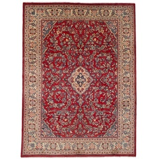 eCarpetGallery  Hand-knotted Mahal Red Wool Rug - 9'4 x 12'8