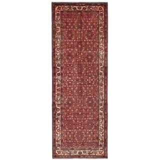 eCarpetGallery  Hand-knotted Hosseinabad Dark Copper Wool Rug - 3'5 x 10'2