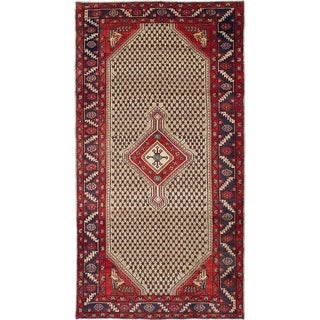 eCarpetGallery  Hand-knotted Koliai Khaki Wool Rug - 5'3 x 9'8